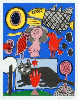 Zwarte Kat, Roze Vrouw