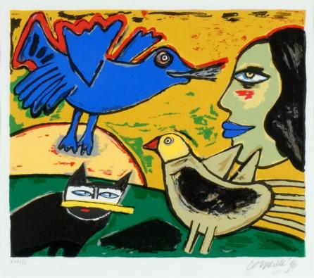 Blauwe Vogel, Zwarte Kat