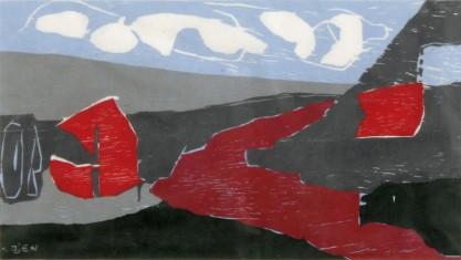 Landschap met Rode Vorm